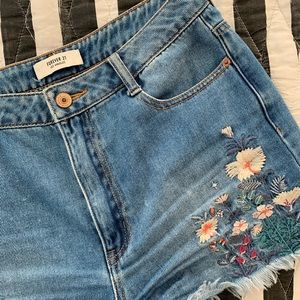 Floral Super High Waisted Shorts Sz 28/6